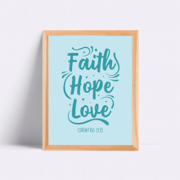 Quadro - Faith Hope Love