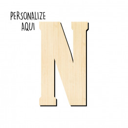 Letra Inicial MDF - Personalize
